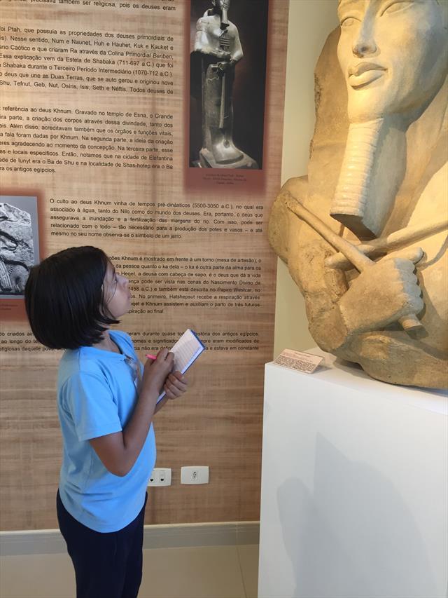 Aula de Campo no Museu Egípcio