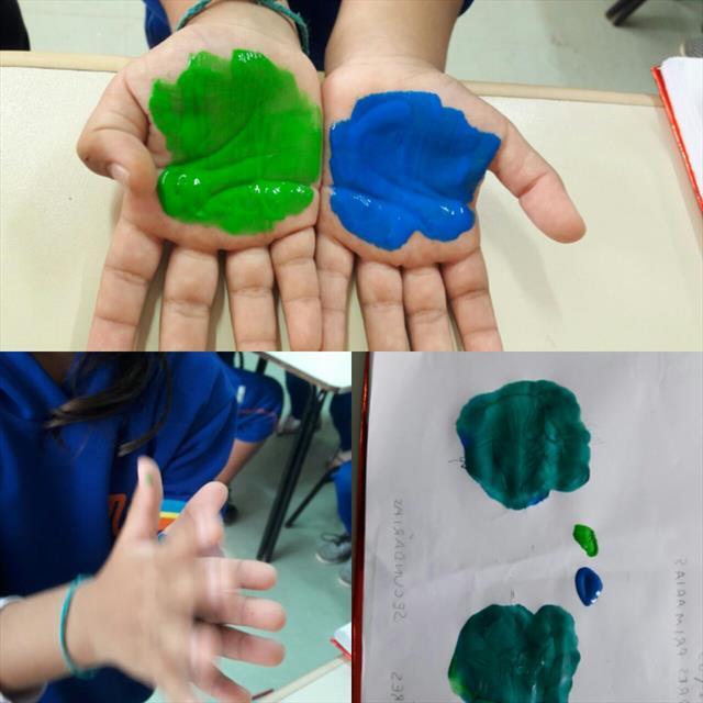 Descobrindo as cores - motricidade