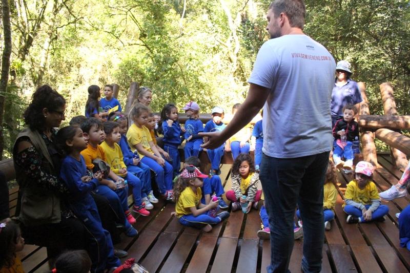 Crianças têm aula sobre biodiversidade no Jardins de Mel