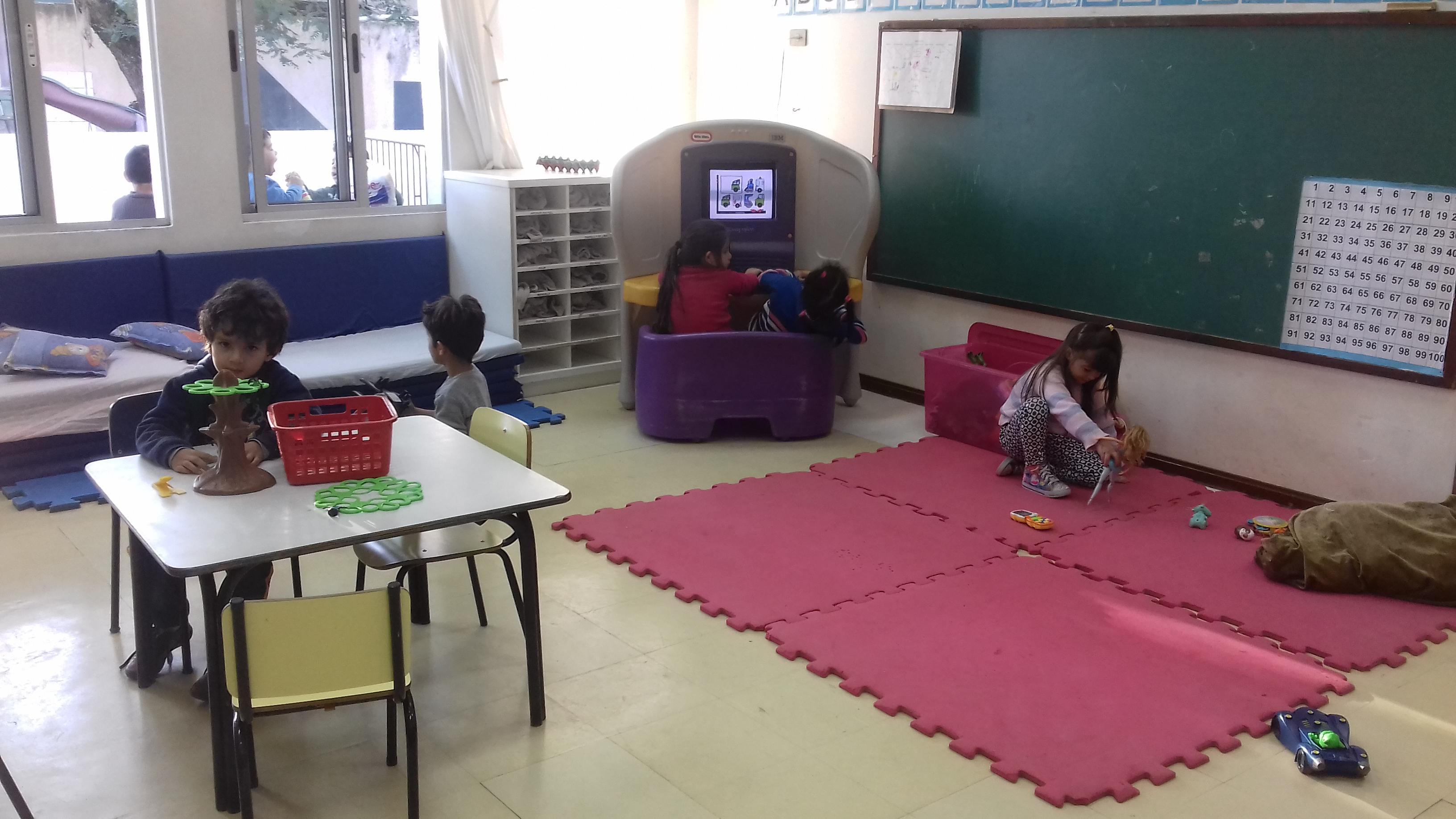 A criança tem o direito a um espaço organização para brincar.