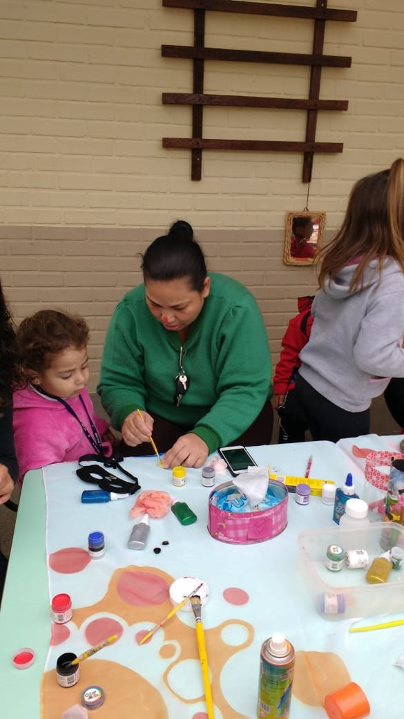 Integração com as famílias semana do brincar