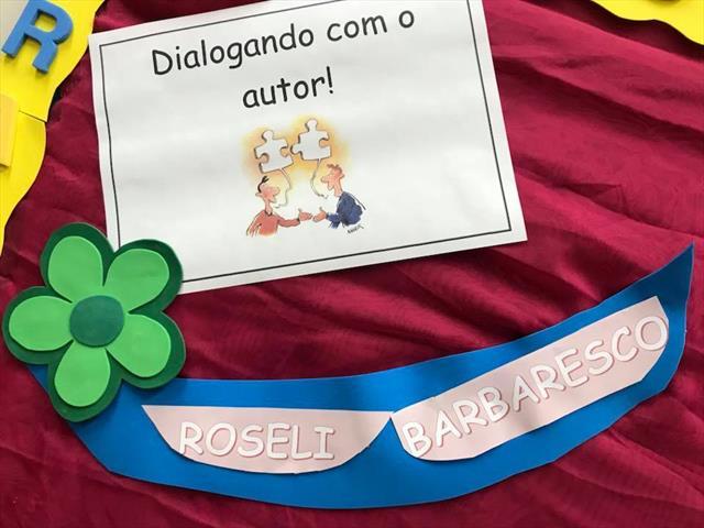 """Projeto """"Dialogando com o autor"""" - convidada  Roseli Barbaresco"""
