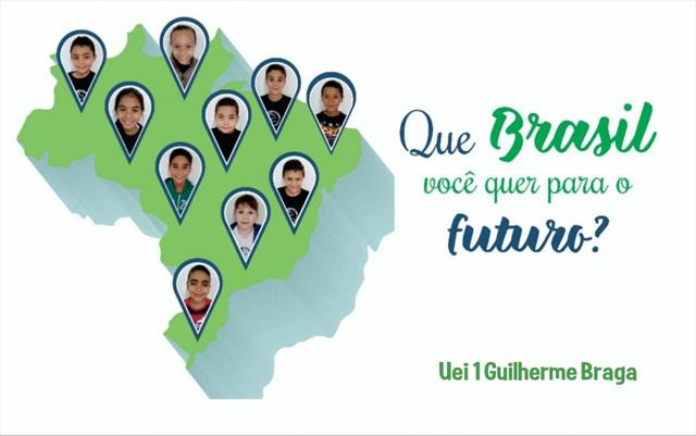 Estudantes gravam vídeo com o tema: Que Brasil vo