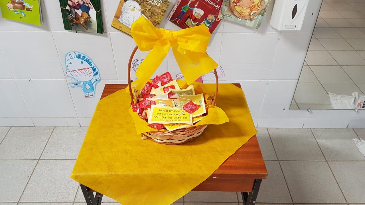 CMEI Ubatuba/Tambaú apoia setembro amarelo