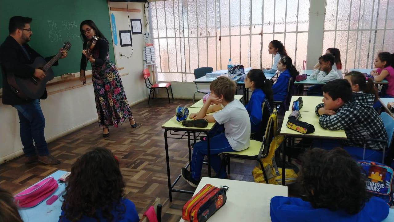 Estudantes concentrados
