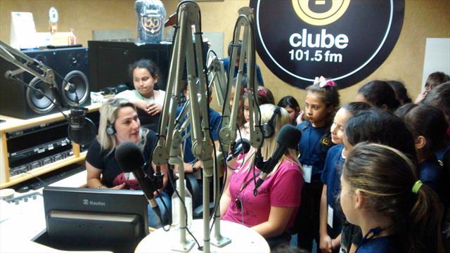Visita na Rádio Clube FM