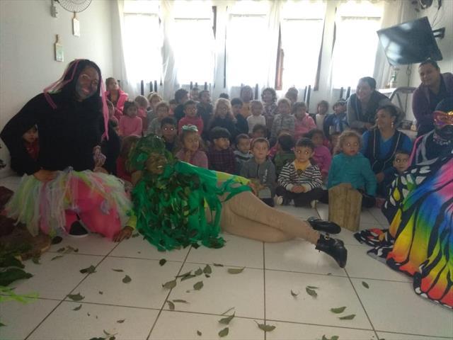 Nesta quinta-feira 28/11 as crianças do CMEI Cora Coralina tiveram a oportunidad