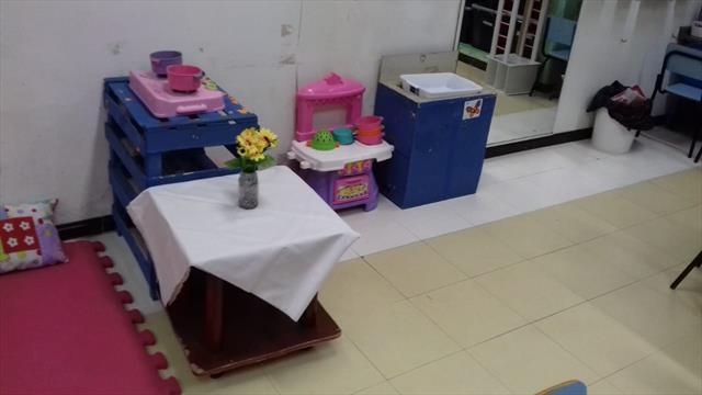 Espaços para receber as crianças