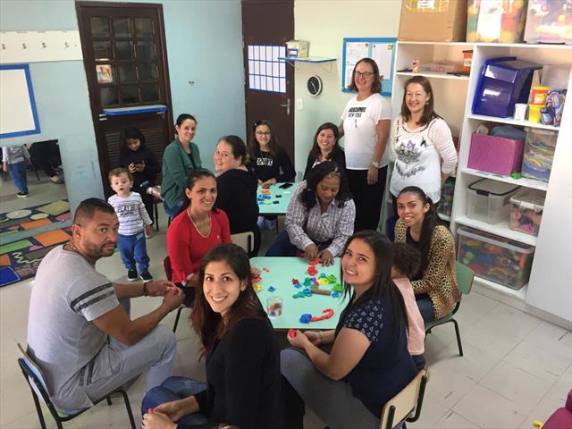 Primeiro encontro de integração com as famílias no CMEI Irmã Dulce