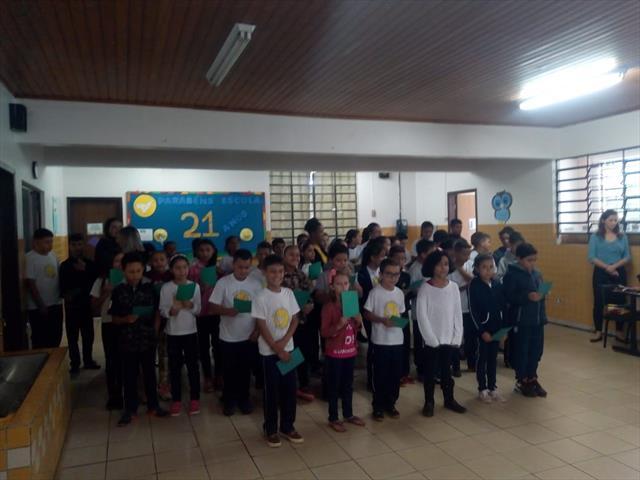 Aniversário da Escola - Hino Nacional