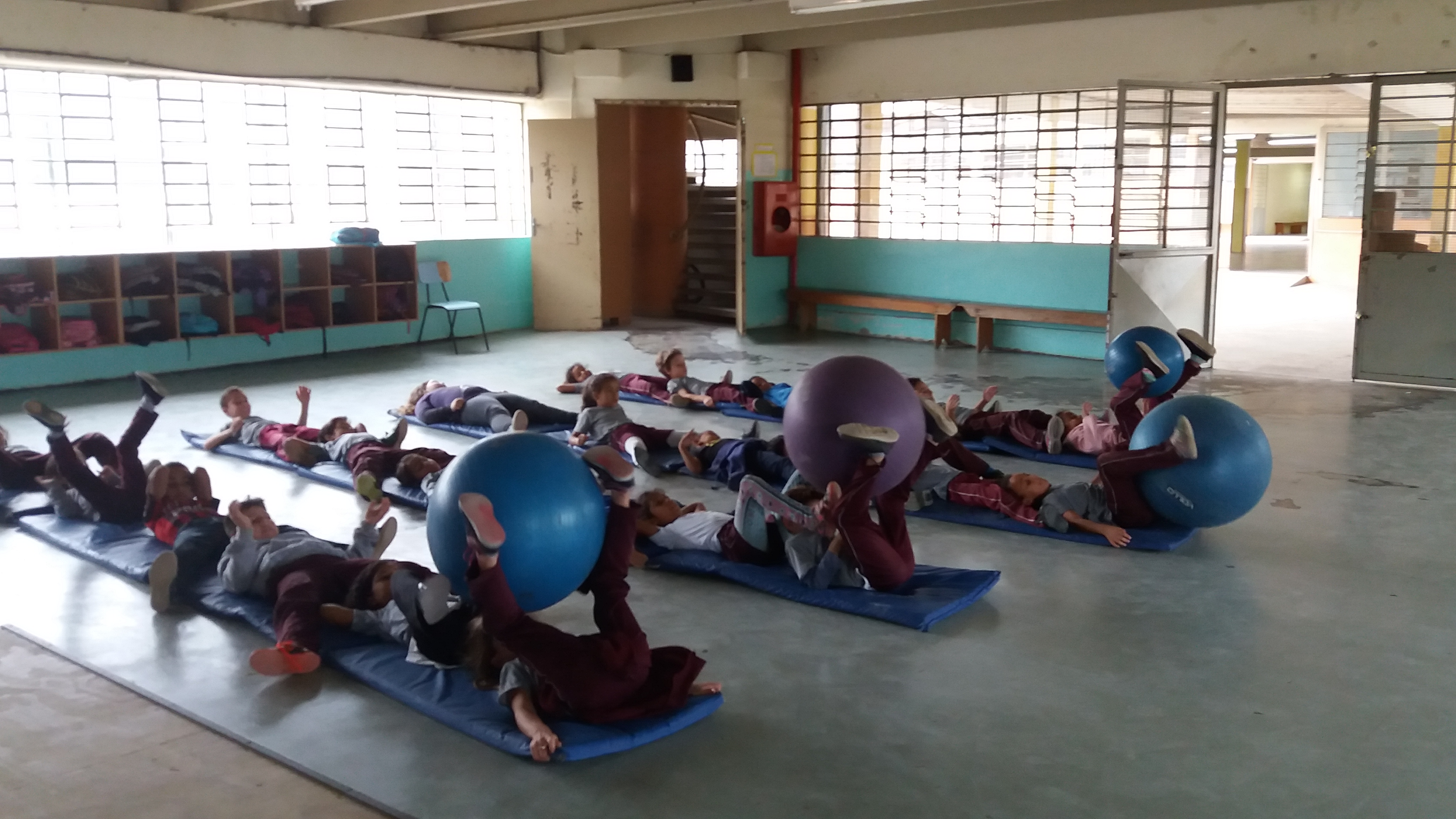 PRÁTICA DO MOVIMENTO - Aula com a bola de pilates.