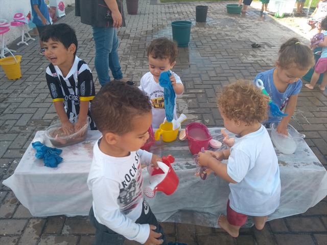 PRIMEIRA INTEGRAÇÃO PARA O BRINCAR 2019 DIA DE RECEBER OS AMIGUINHOS DO CMEI DONA FRANCISCA