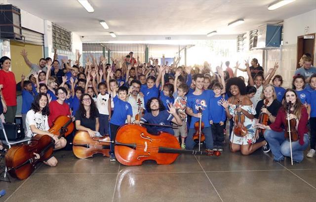 Começa temporada 2019 dos concertos nas escolas municipais