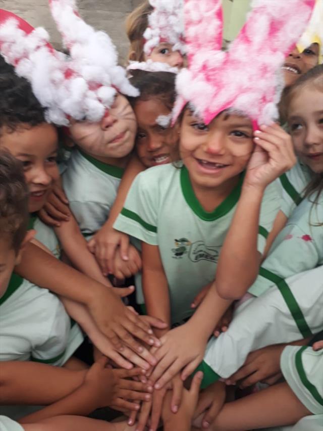 Comemoração da Festa da Páscoa com os alunos da E.