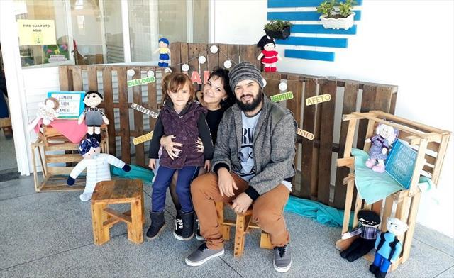 Piquenique de integração com as famílias