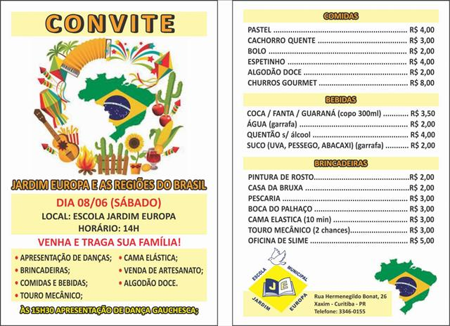 Convite festa 2019