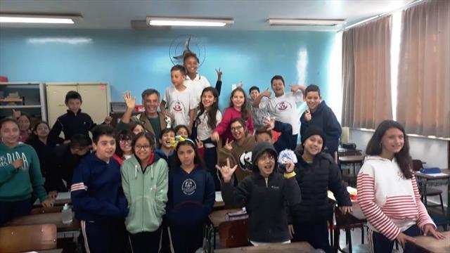 """Projeto """"Palavramundo - Incursões de Leitura"""" vai à Escola Municipal Duílio Calderari"""