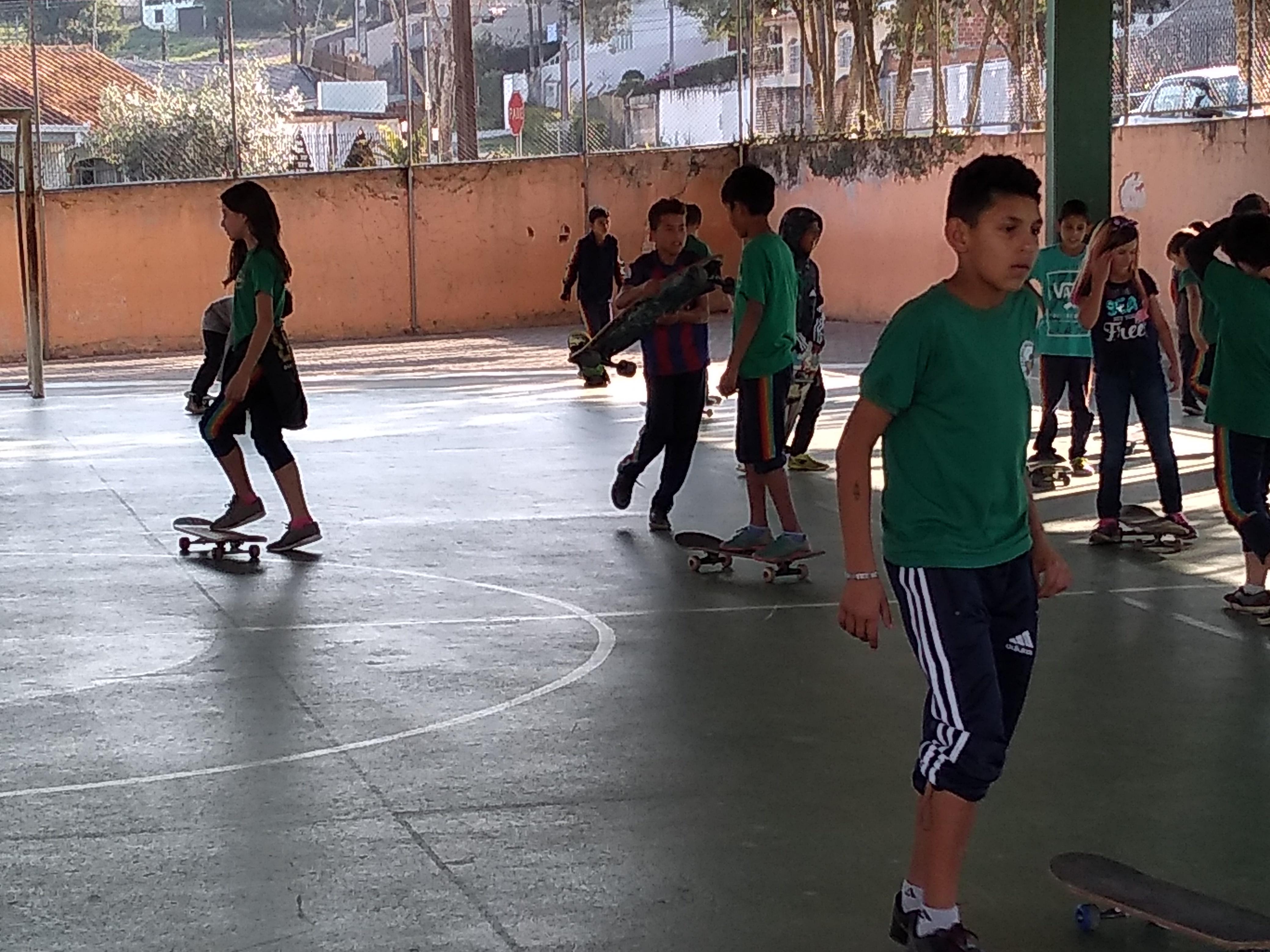 Skate na escola