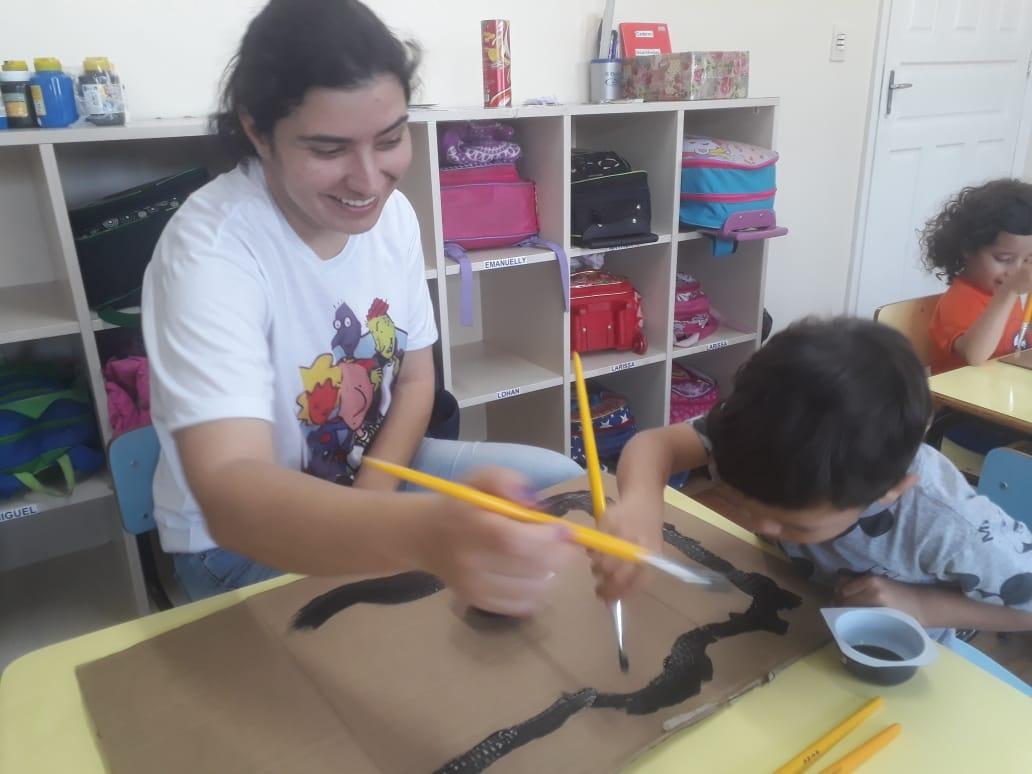 Construção de brinquedos com as famílias