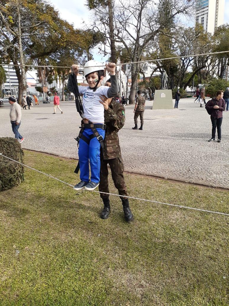 Interagindo com os soldados