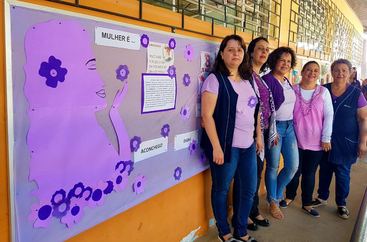 Mês lilás para conscientizar ações e combater a violência contra a mulher