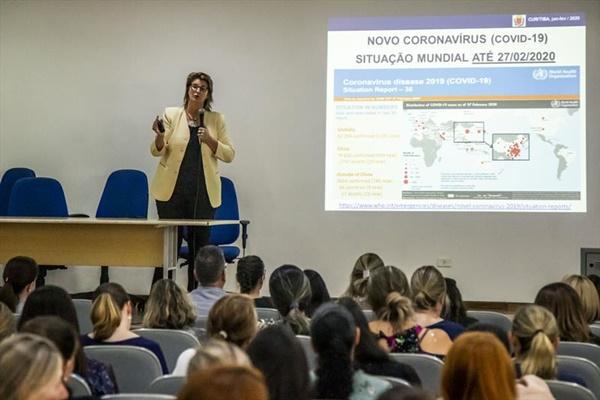 Treinamento para prevenção ao Coronavirus, no audi