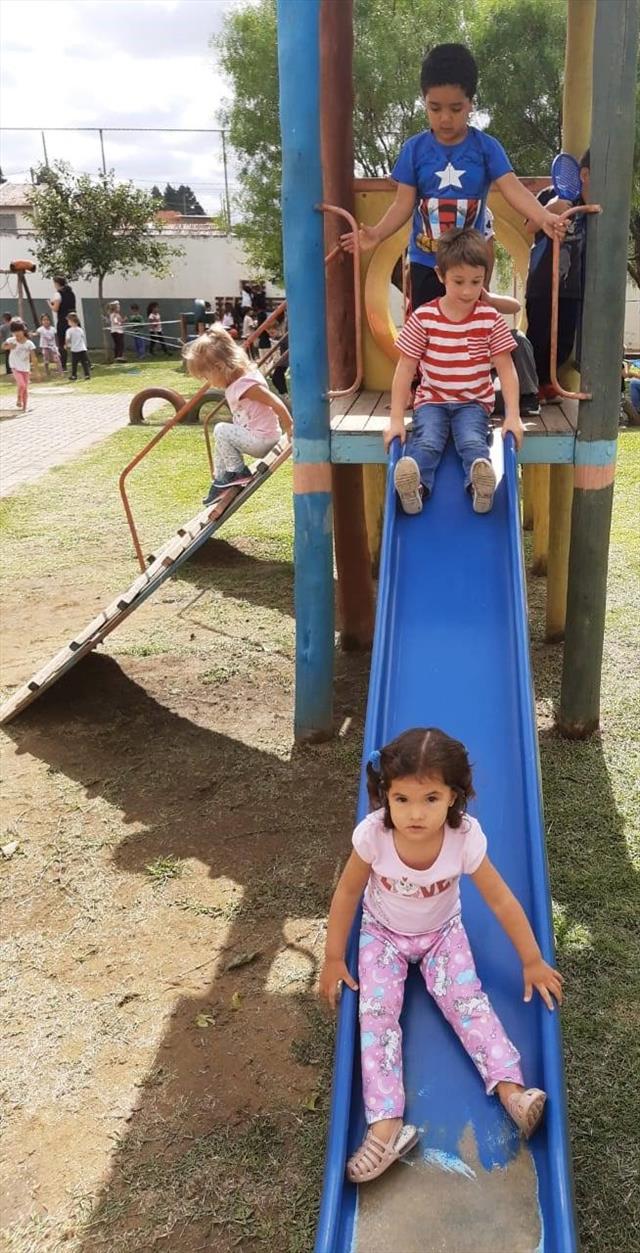 Dia de integração no parque.
