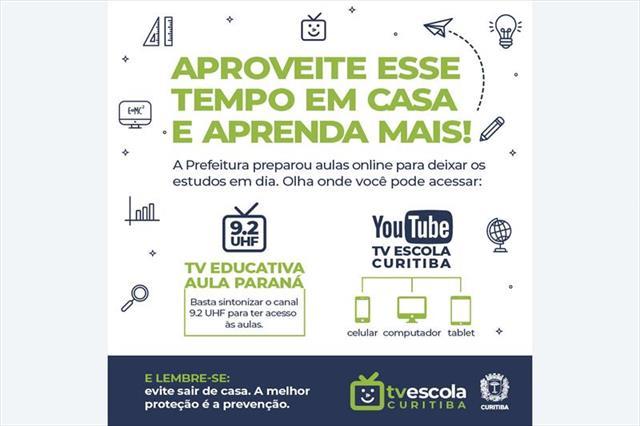 Iniciam hoje as videoaulas na TV e no YouTube para estudantes da Rede Municipal de Ensino