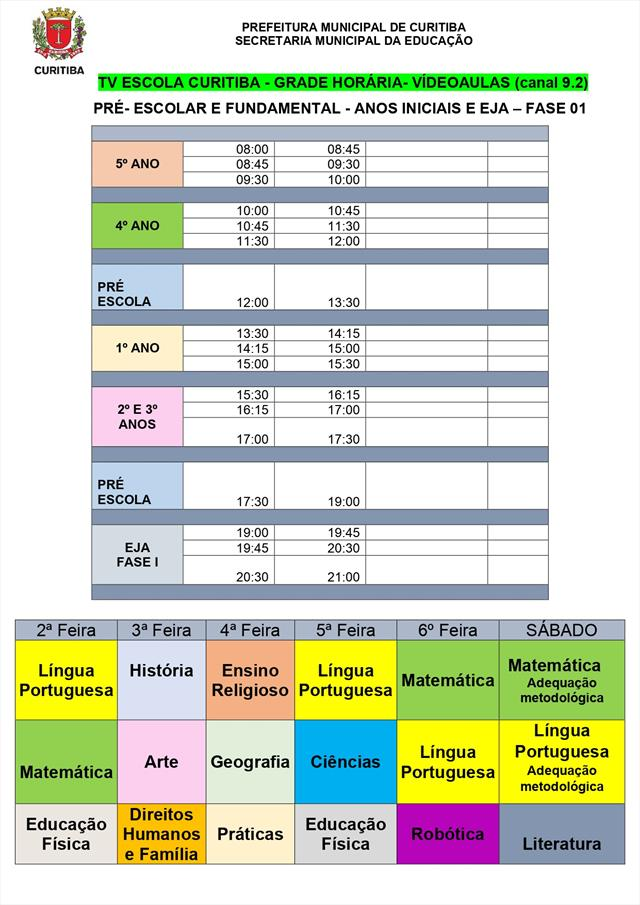 Grade horario