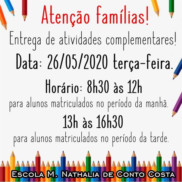 Atividades Complementares - 26/05/2020