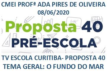 TV ESCOLA CURITIBA- PROPOSTA 40