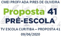 TV ESCOLA CURITIBA- PROPOSTA 41