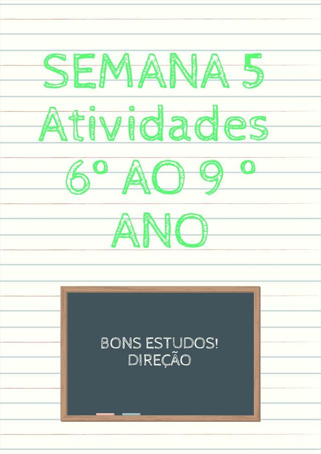 ATIVIDADES 6 AO 9 ANOS