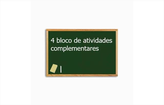 ATIVIDADES COMPLEMENTARES TODAS AS TURMAS - ATIVIDADE Nº 04