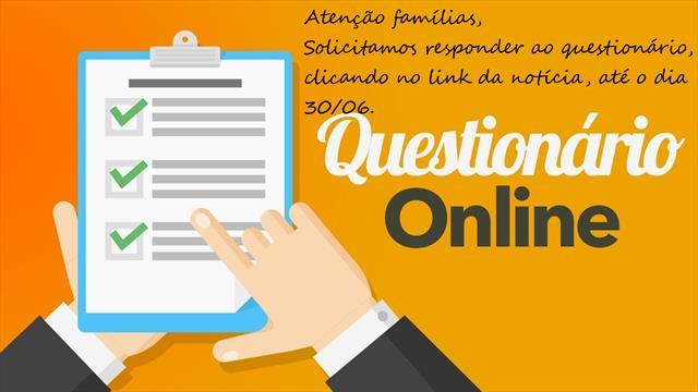 Atenção para preenchimento de questionário online sobre o estudo remoto