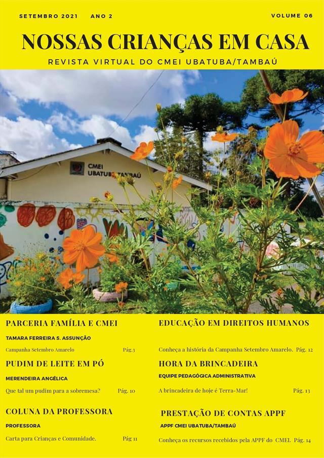 """Revista Virtual """"Nossas Crianças em Casa"""" - Edição de Setembro/2021"""