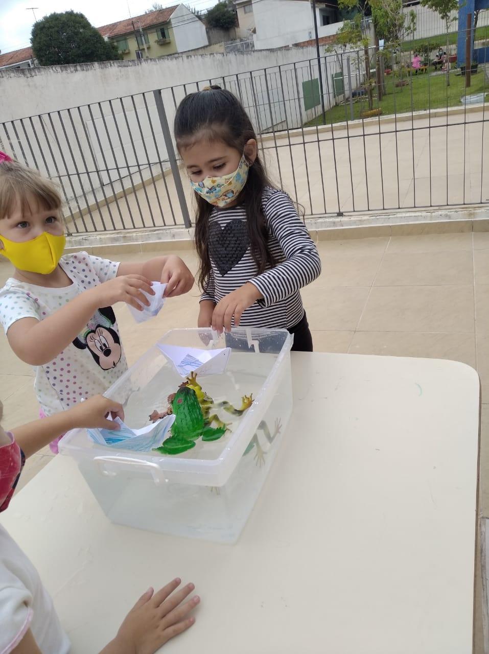 Retorno das crianças no CMEI