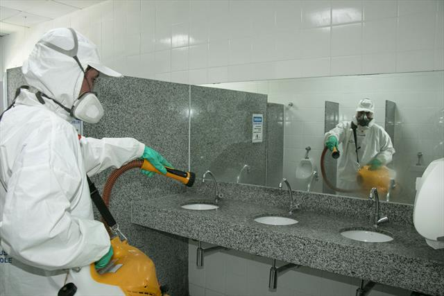 Sanitização. Foto: Ricardo Marajó/SMCS