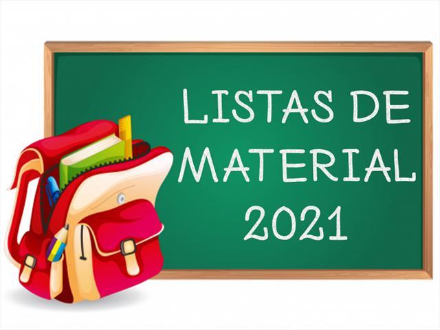 Listas de Material para o ano letivo de 2021