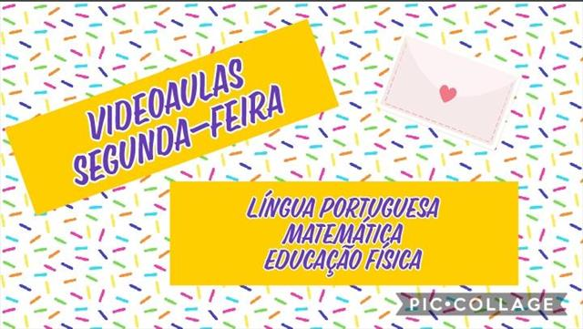 VIDEOAULAS -SEGUNDA-FEIRA