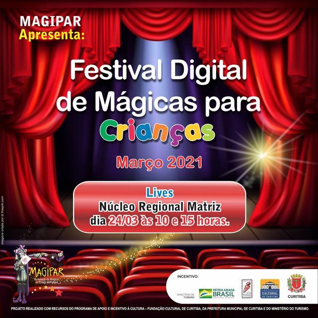 FESTIVAL DIGITAL DE MÁGICAS PARA CRIANÇAS