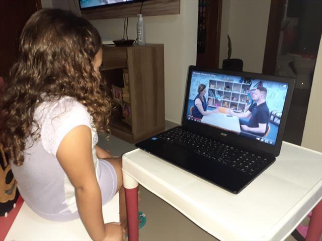 Turma do pré acompanha aulas online