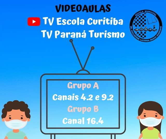 Videoaulas ofertadas na TV Paraná Turismo e no can