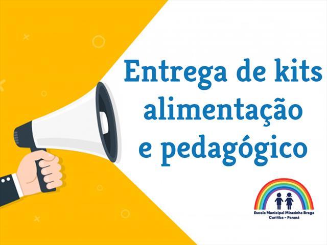 Entrega de kits alimentação e pedagógico será no dia 31/03