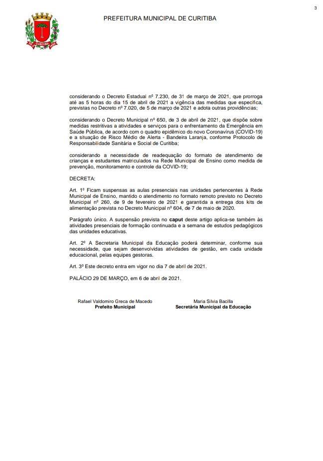 DECRETO nº662/2021
