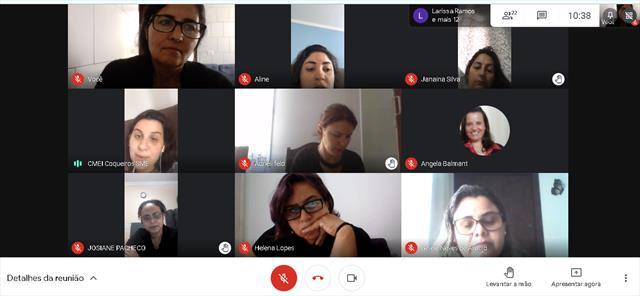 Reunião para planejamento da entrega dos Kits Peda