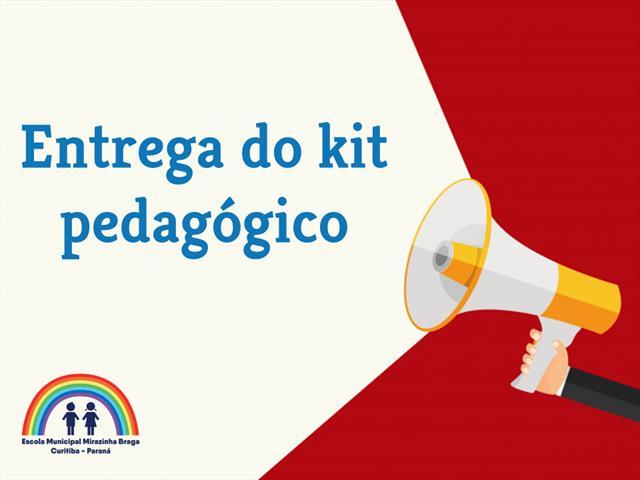 Entrega do kit pedagógico será no dia 14/04