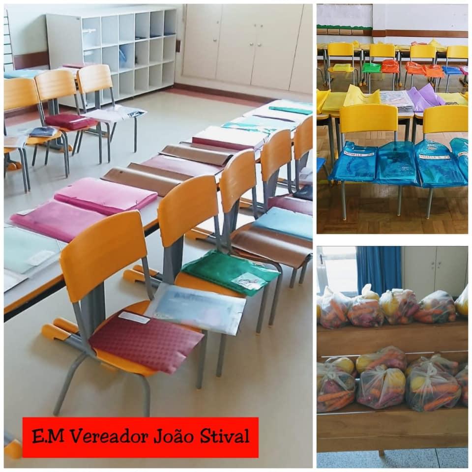 Entrega de Kits alimentação e pedagógico