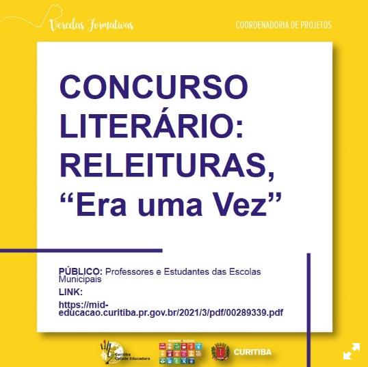 Concurso Literário: Releituras, Era Uma Vez