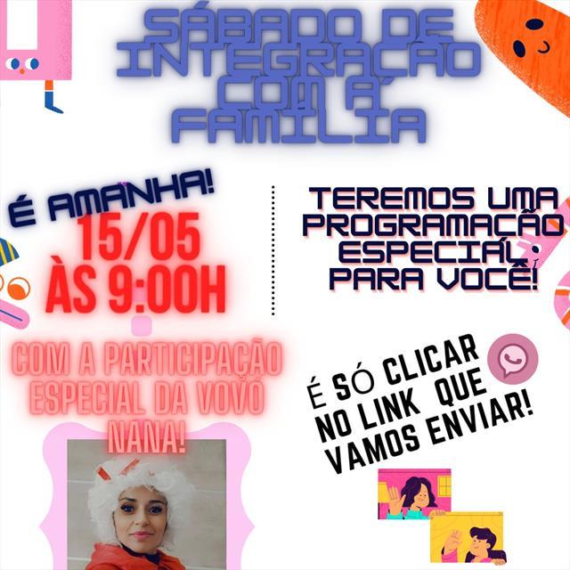 CMEI Jardim Gabineto - Sábado Letivo de Integração com as famílias.